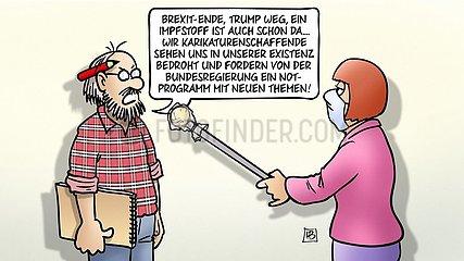 Karikaturen-Notstand