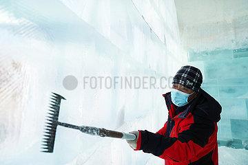CHINA-HEILONGJIANG-HARBIN-ICE SCULPTOR (CN) CHINA-HEILONGJIANG-HARBIN-ICE SCULPTOR (CN) CHINA-HEILONGJIANG-HARBIN-ICE SCULPTOR (CN)
