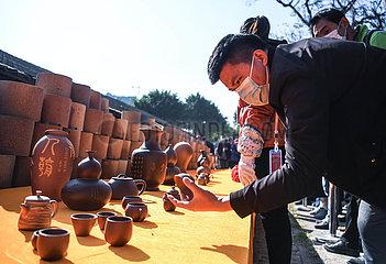 CHINA-GUANGXI-Qinzhou-Gulong KILN-neue Jahr-Gruß (CN)
