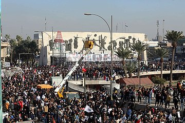 IRAK-BAGDAD-Qassem Soleimani-Abu Mahdi al-Muhandis-MOURNING