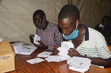 UGANDA-KAMPALA-WÄHLER LOCATION SLIPS-AUSGABE