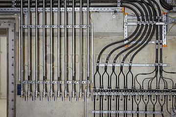 Hydraulikleitungen und Kuehlwasserleitungen im Industriebau  Neubau Pumpwerk Oberhausen  Oberhausen  Nordrhein-Westfalen  Deutschland