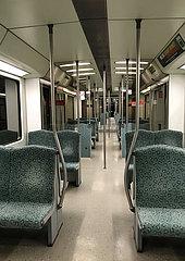Berlin  Deutschland  leerer S-Bahnwaggon