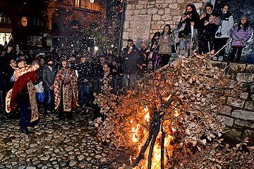 BOSNIEN UND HERZEGOWINA-SARAJEVO-orthodoxes-Heiligabend
