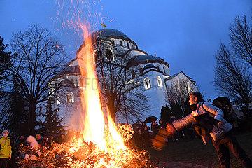 SERBIEN-BELGRAD Orthodoxes Weihnachten