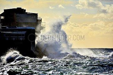 Sturm an der französischen Mittelmeerküste