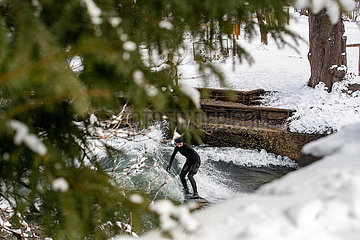 Lockdown im Schnee in München