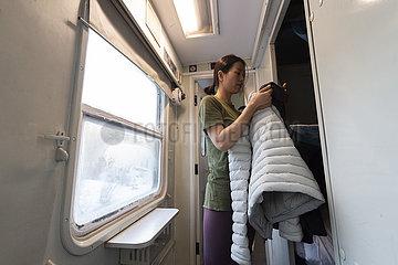 CHINA-HEILONGJIANG-HARBIN-mohe-TRAIN (CN)