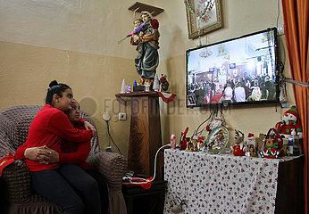 MIDEAST-GAZA-STADT-CHRISTIAN-WEIHNACHTEN