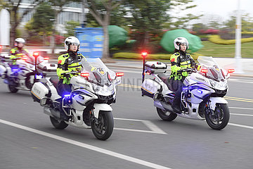 CHINA-FUJIAN-FUZHOU-TRAFFIC POLIZIST-Mot TEAM (CN)