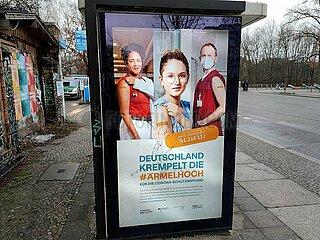 Werbung fuer Impfkampagne