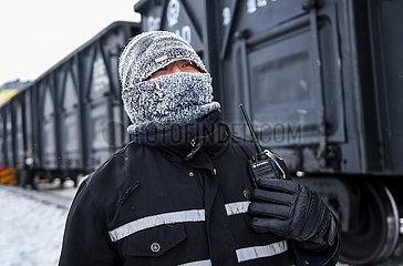 CHINA-Inner Mongolia-Xilin Gol-COLD WAVE-TRAIN DISPATCHER (CN)