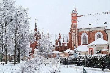 LITAUEN-VILNIUS-SNOW