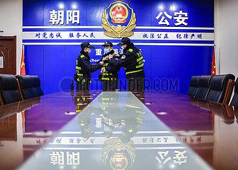 CHINA-JILIN-CHANGCHUN-POLIZISTEN-NIGHT PATROL (CN)