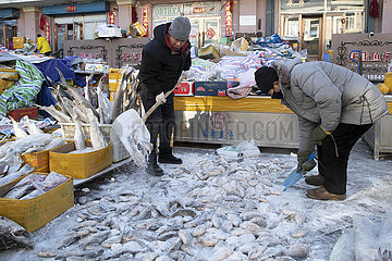 CHINA-HEILONGJIANG-FUYUAN-FISH MARKET (CN) CHINA-HEILONGJIANG-FUYUAN-FISH MARKET (CN)