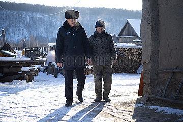 CHINA-HEILONGJIANG-mohe-Village POLICEMAN-GRENZSCHUTZ (CN)