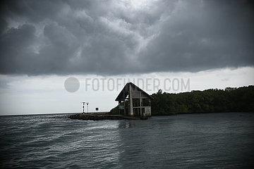 INDONESIEN-JAKARTA-WEATHER-Dunkle Wolken