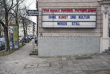 Museum Lichtspiele  geschlossenes Kino  Muenchen  Januar 2021