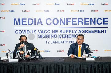 MALAYSIA-KUALA LUMPUR-CHINA-COVID-19 VACCINE-SUPPLY AGREEMENT