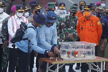 (SPOT NEWS)INDONESIA-JAKARTA-SRIWIJAYA AIR SJ 182-BLACK BOX-RETRIEVAL