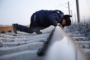 CHINA-GANSU-AKSAY-RAILWAY-MAINTENANCE (CN)
