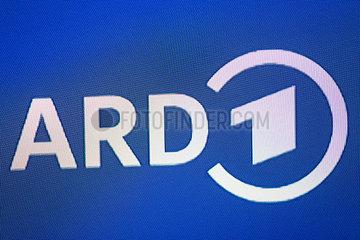 ARD-Logo auf einem Bildschirm