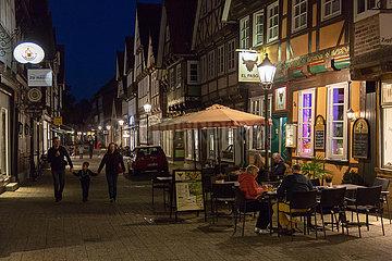 Deutschland  Celle - Gasse in der mittelalterlichen Altstadt