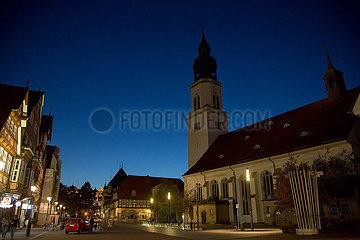 Deutschland  Celle - An der Stadtkirche in der mittelalterlichen Altstadt (Evangelisch-lutherische Stadtkirche St. Marien)