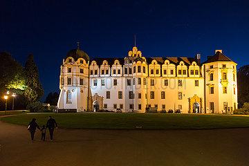 Deutschland  Celle - Celler Schloss  Renaissanceschloss mittelalterlichen Ursprungs mit reich verzierter Kapelle und Barocktheater