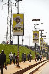 UGANDA-KAMPALA-ALLGEMEINE WAHL-KANDIDATEN-Werbekampagne