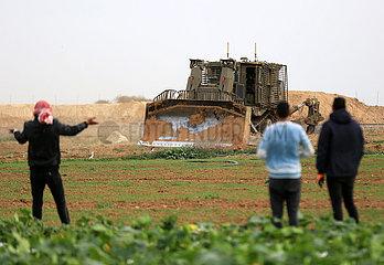 MIDEAST-GAZA-Chan Yunis-FARM