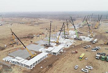 CHINA-HEBEI-SHIJIAZHUANG-COVID-19-ISOLATION CENTER-CONSTRUCTION (CN)