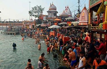 INDIEN-HARIDWAR-Makar Sankranti-FESTE