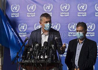 MIDEAST-GAZA-STADT-UNRWA-PRESSEKONFERENZ