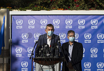 MIDEAST-GAZA CITY-UNRWA-PRESS CONFERENCE
