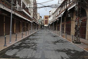 LIBANON-TRIPOLIS-SPERRE-CURFEW