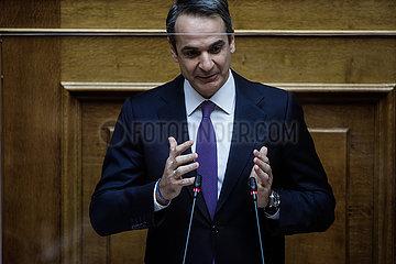 GREECE-ATHENS-PM-PARLIAMENT-COVID-19