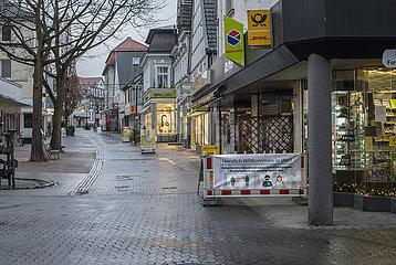 leere Fussgaengerzone  Werl  Westfalen  Dezember 2020
