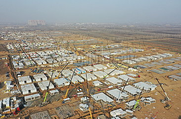 CHINA-HEBEI-SHIJIAZHUANG-COVID-19-ISOLATION CENTER-CONSTRUCTION (CN)