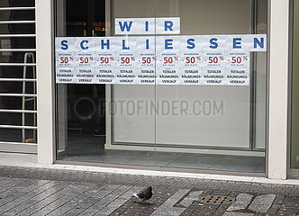 Lockdown  Geschaeftsschliessung  Innenstadt  Koeln  Nordrhein-Westfalen  Deutschland