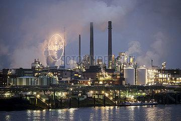 Bayer Werk  Leverkusen  Nordrhein-Westfalen  Deutschland