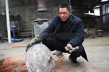 CHINA-GANSU-Kupfer-Aluminium-CASTING CRAFTSMANSHIP (CN)