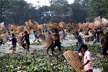 BANGLADESH-SYLHET-FISH HUNTING FESTIVAL