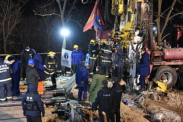 CHINA-SHANDONG-QIXIA-GOLD MINE-Rescue (CN)