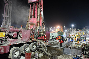 CHINA-SHANDONG-QIXIA-GOLD MINE-Rescue-NEW CHANNEL DRILLING (CN)