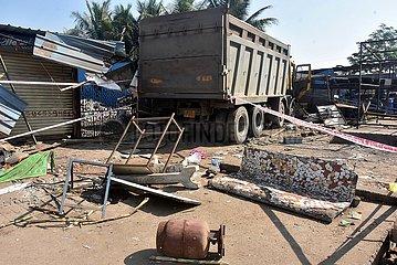 INDIEN-GUJARAT-Verkehrsunfall
