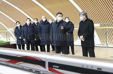 CHINA-HEBEI-XI Jinping-2022 OLYMPIC & Paralympische Winterspiele-Zhangjiakou WETTBEWERB ZONE-PRÜFUNG (CN)