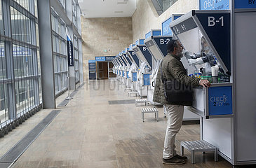 ISRAEL-TEL AVIV-AIRPORT-COVID-19