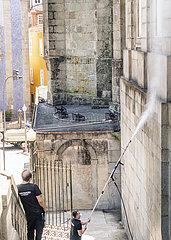 Reinigung dere Fassade