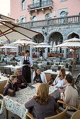 Kroatien  Opatija - Hotel-Restaurant in dem Seebad an der Kvarner-Bucht mit mondaener oesterreichisch-ungarischer Vergangenheit